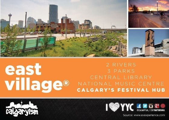 Calgary East Village Infographic