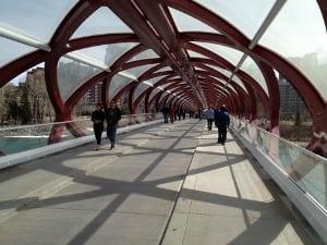 Peace Bridge Summer Calgary Alberta