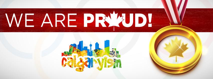 Canada Winter Olympics We Are Proud CANADA