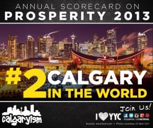 Calgary Second Prosperous World City Toronto Board of Trade