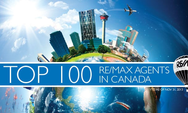 Top 100 REMAX Agents Canada 2013