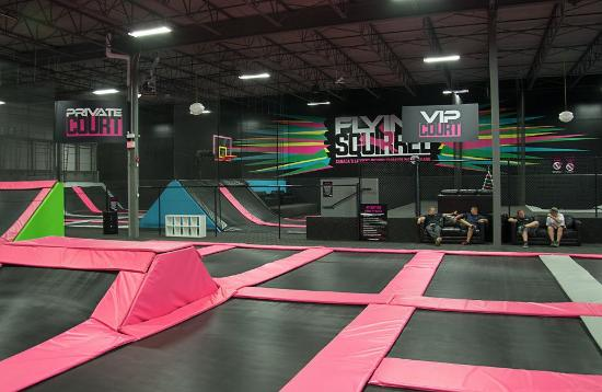 indoor trampoline park flying squirrel rainy day activities calgary alberta