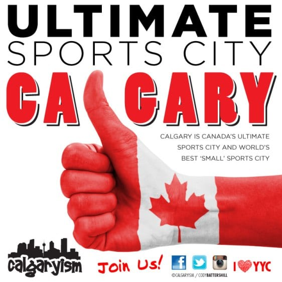 Canada's Ultimate Sports City Calgary Alberta Infographic