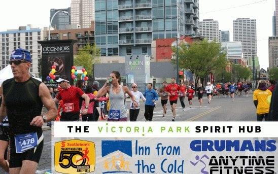 Calgary Marathon's Spirit Hub Event Victoria Park Infographic