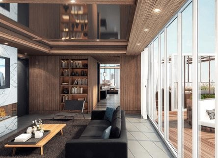 6th and 10th new calgary condos interior lounge
