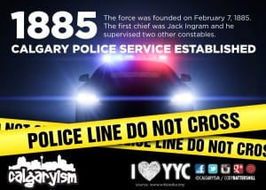 Calgary Police Force 1885 Established Infographic