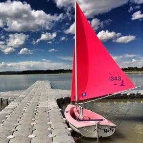 Sailing Glenmore Reservoir Calgary Alberta