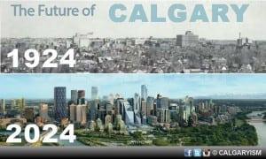 Calgary Skyline Century 1924 2024