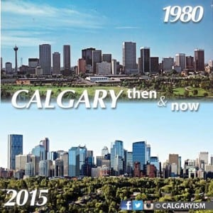 1980 calgary skyline downtown calgaryism infographic comparison