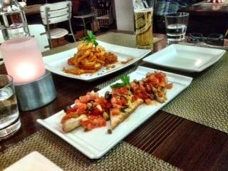 Appetizers Calamari Bruschetta Pulcinella Calgary Kensington