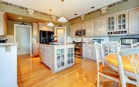 home interior kitchen hardwood floor