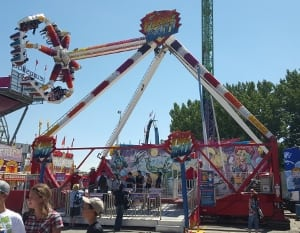 Calgary stampede fireball ride amusement scary
