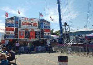 Calgary stampede slingshot amusement ride scary