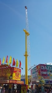 Calgary stampede ride midway superman scary