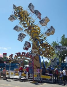 Calgary stampede scary rides amusement zipper