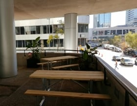 holy grill downtown calgary patio section outdoors 5th avenue sw