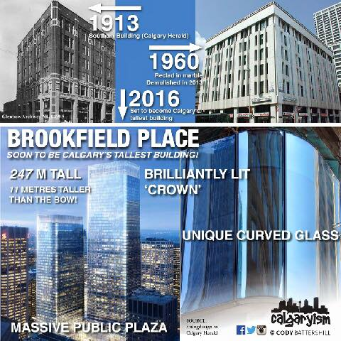 Brookfield Place Calgaryism Infographic Calgary Alberta Skyscraper