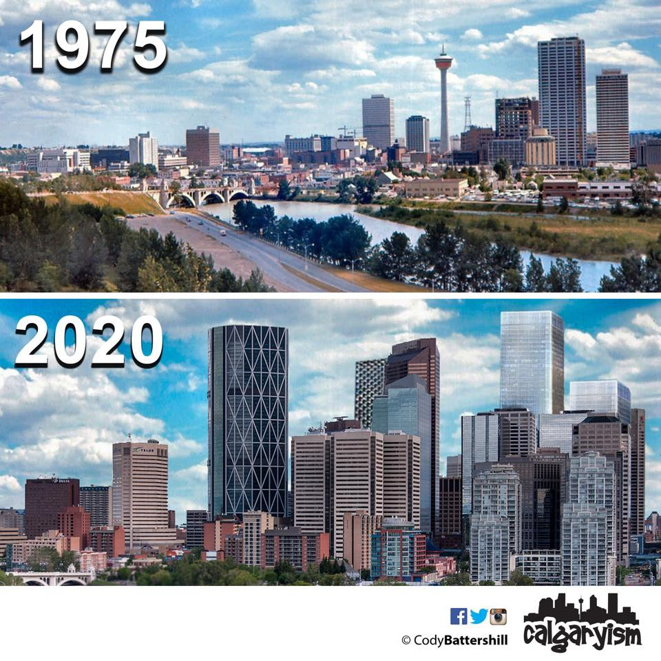 history of Calgary then and now - 1975 - 2015