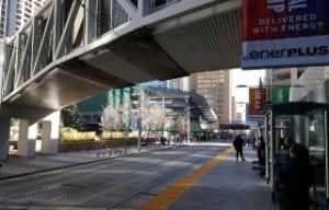 Downtown CTrain LRT +15 Plus fifteen
