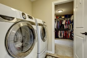 washer and dryer machines laundry room new home