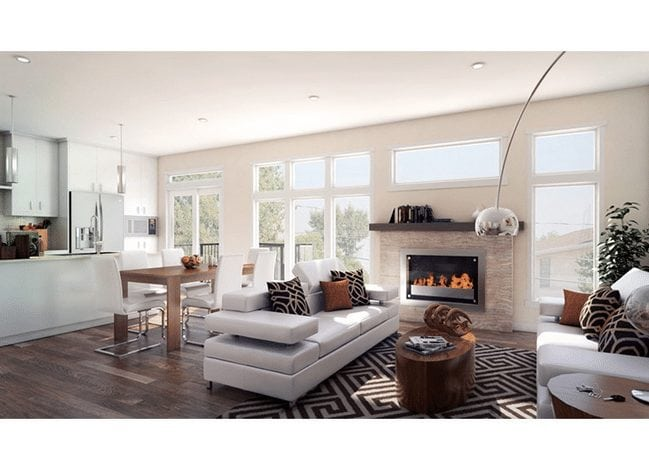 new northwest calgary townhome interior living room area