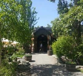river cafe entrance summer calgary