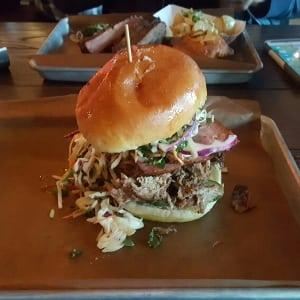 Pulled pork sandwich Hayden Block Calgary Alberta