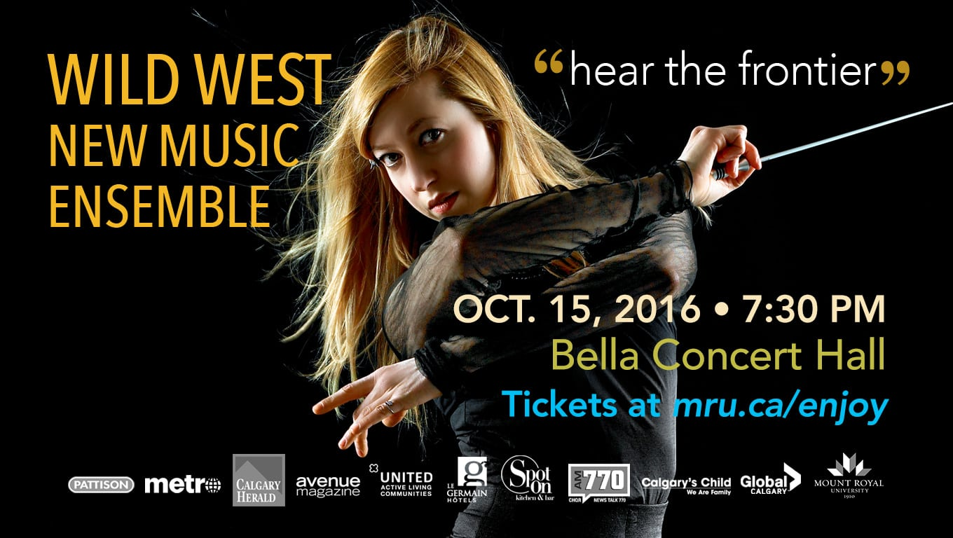 wild west ensemble concert bella concert hall mount royal university