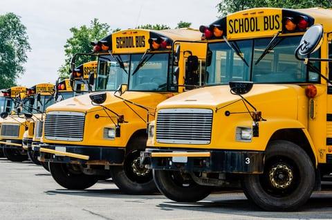 Yellow School Bus Calgary Alberta