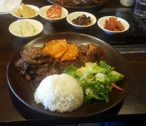 lunch special GOGI Korean BBQ restaurant NW Calgary