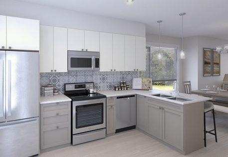 interior evanston the loop new townhomes kitchen