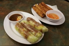 salad rolls spring rolls viet west calgary pho restaurant nw calgary