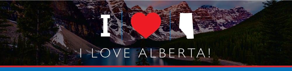 i love alberta canada graphic banner