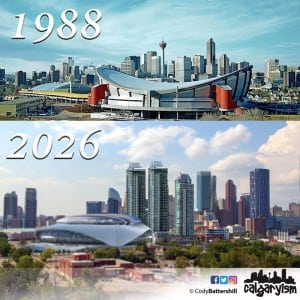 History of Calgary – Then & Now – 1988 vs. 2026