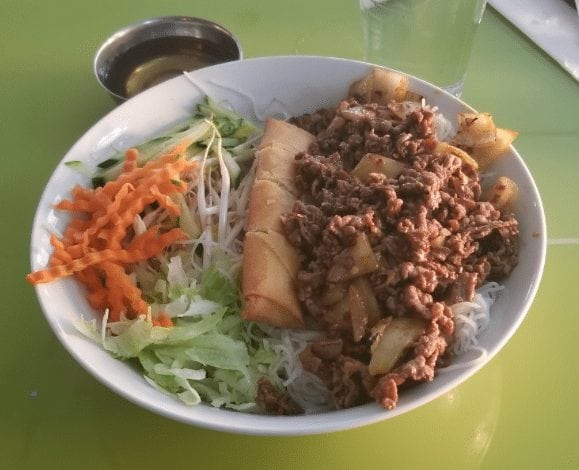 vietnamese beef bun dish southeast calgary