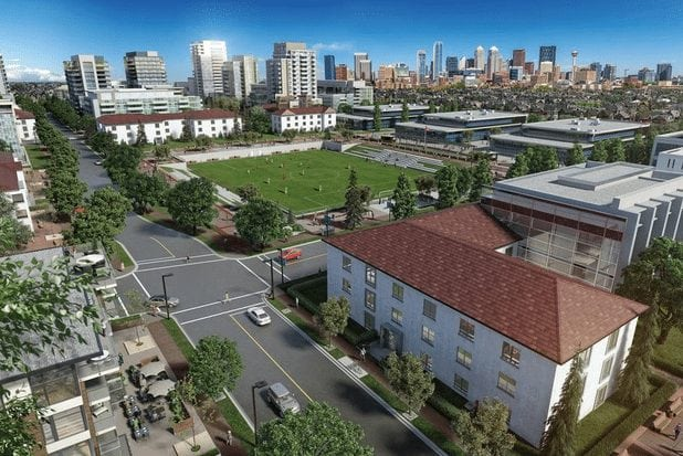 currie barracks mixed use development sw calgary