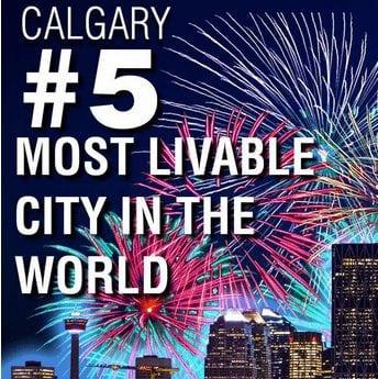 5th best city in the world calgary alberta