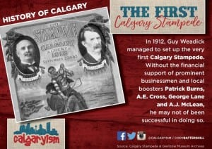 calgary stampede 1912 history of calgary infographic