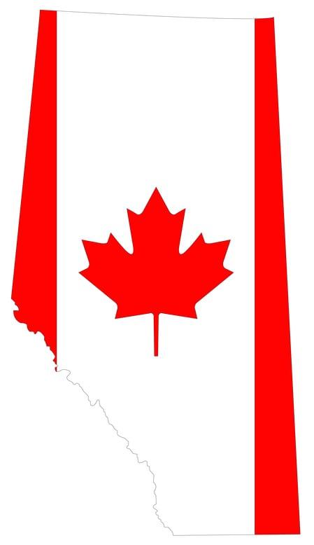 canada flag alberta province