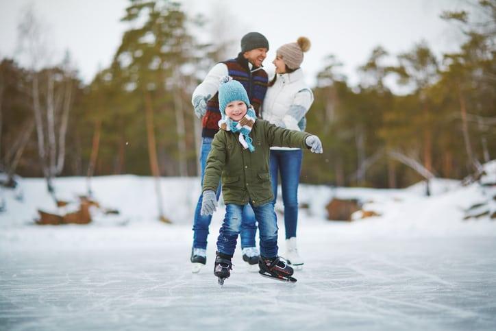 best winter activities in calgary boy skating on ice