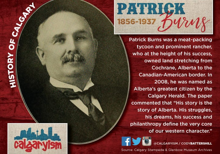 Senator Patrick Burns history of Calgary