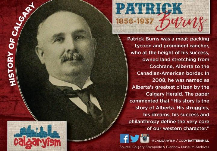 Senator Patrick Burns history of Calgary