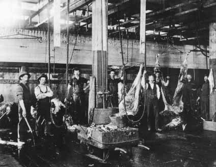 glenbow museum archives patrick burns meat packing plant interior