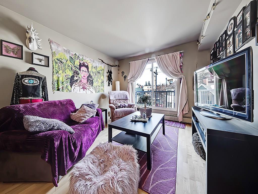 bankview calgary condo interior living space to balcony