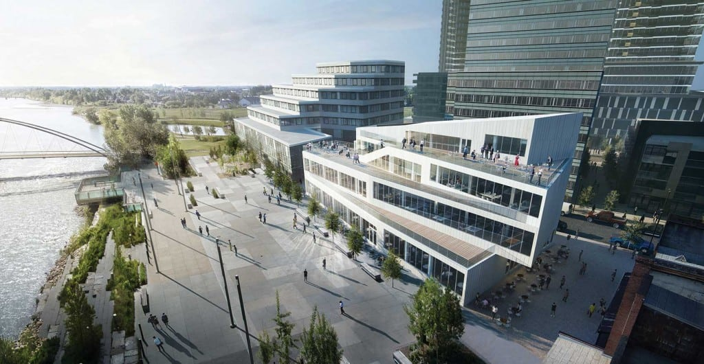M2 building rendering East Village Calgary