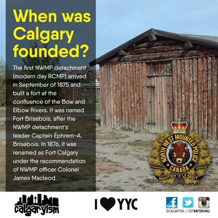When was the city of Calgary established infographic calgaryism