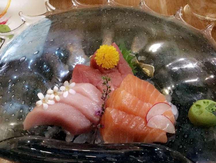assorted sashimi dish big catch sushi bar calgary