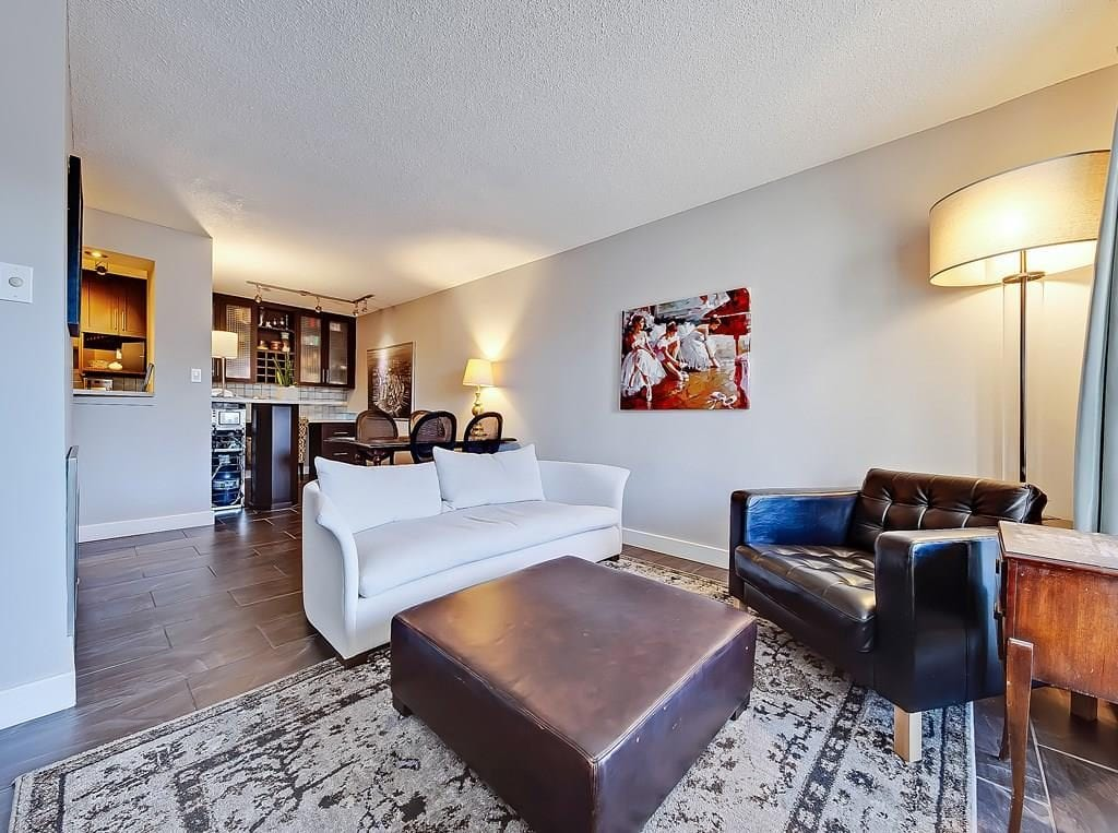 living room at beltline condo for sale in calgary