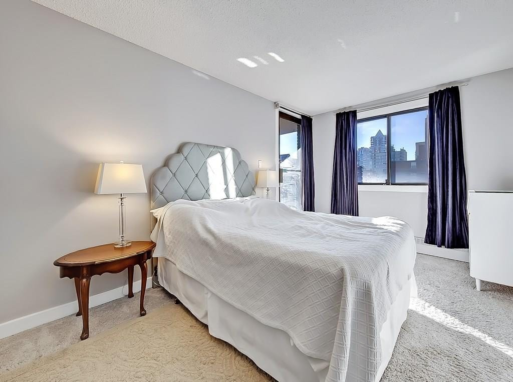 master bedroom view 2 at beltline condo for sale in calgary