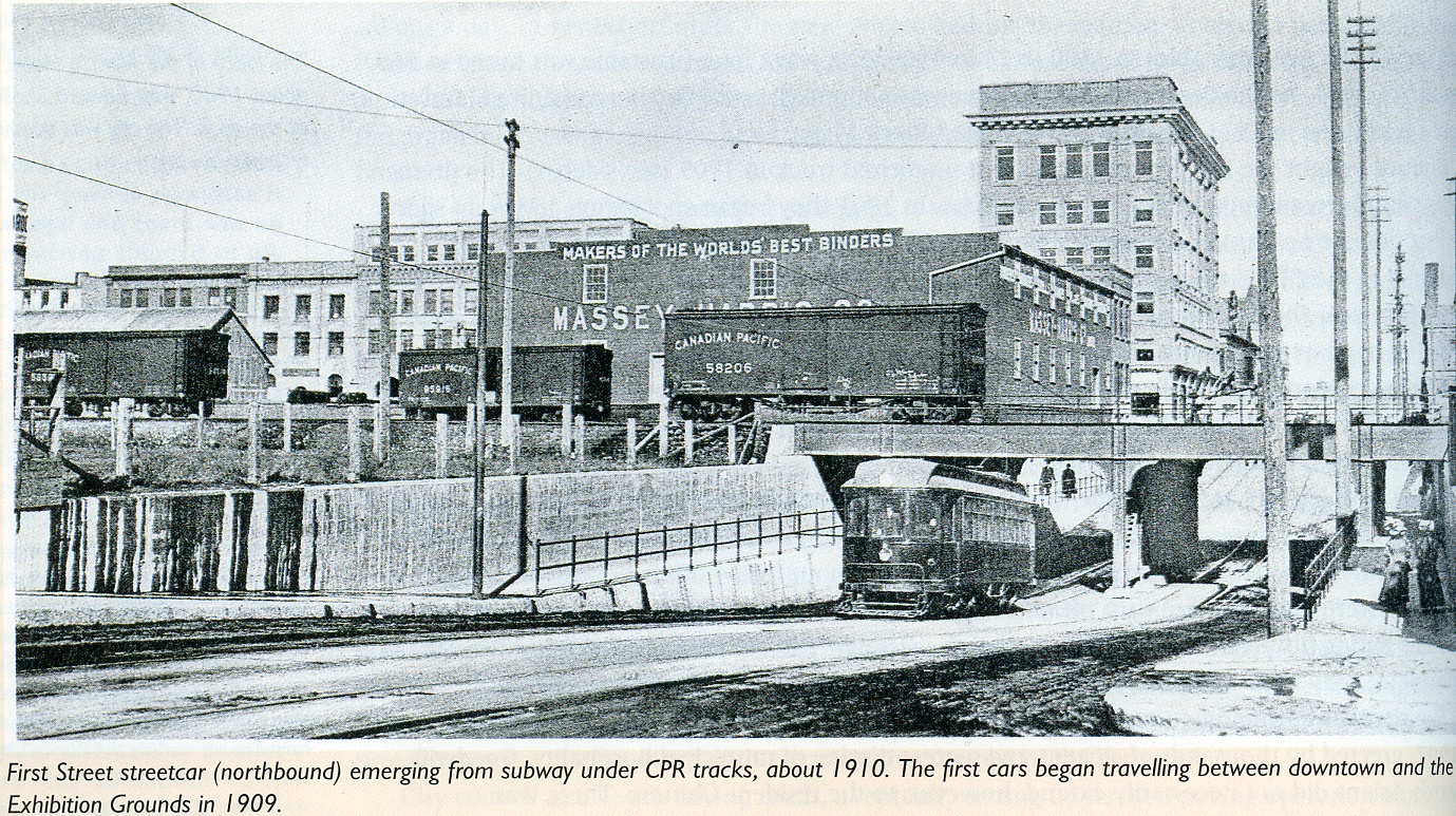historical photo of calgary streetcar 9th avenue sw